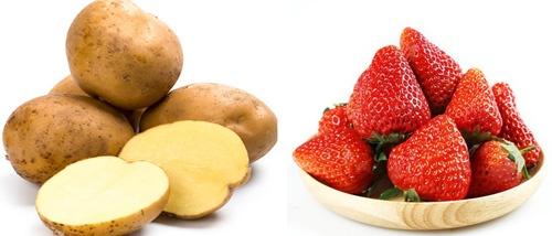 Trị nám tại nhà hiệu quả với dâu tây và khoai tây