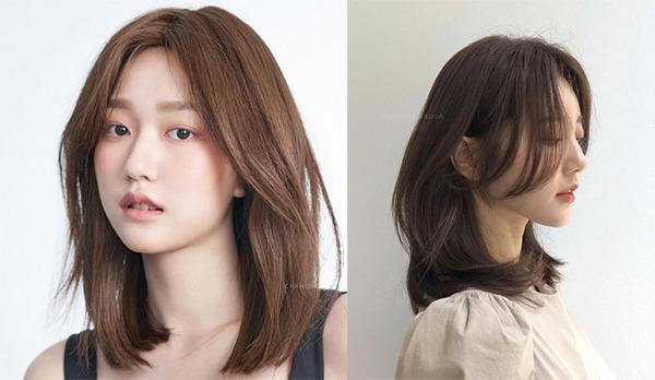 Tóc nữ cắt layer ngang vai cá tính, trẻ trung