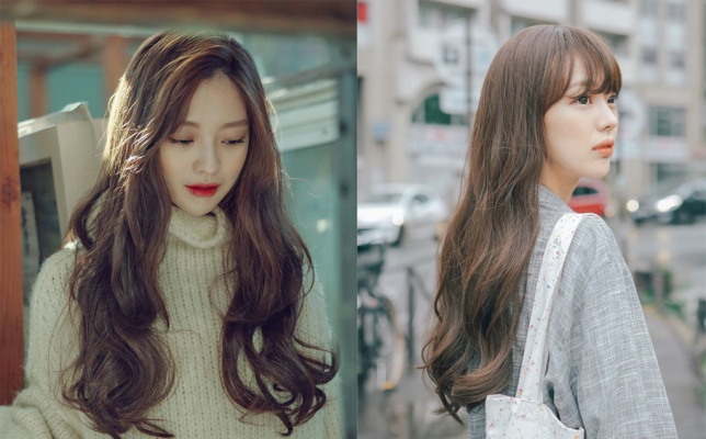 Kiểu tóc dài xoăn sóng Hàn Quốc làm các chị em mê mệt