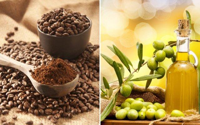 trị rạn da bằng dầu oliu và cà phê đen
