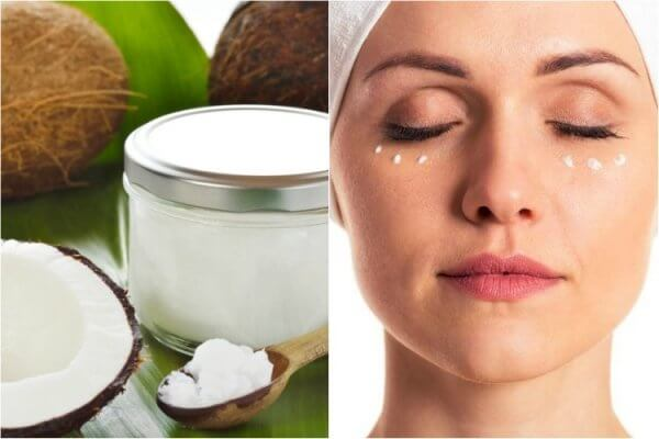 cách làm giảm bọng mắt bằng dầu dừa