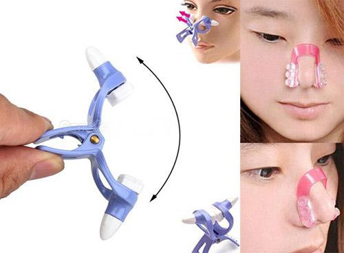 Kẹp mũi là một trong những cách nâng mũi tại nhà không phẫu thuật